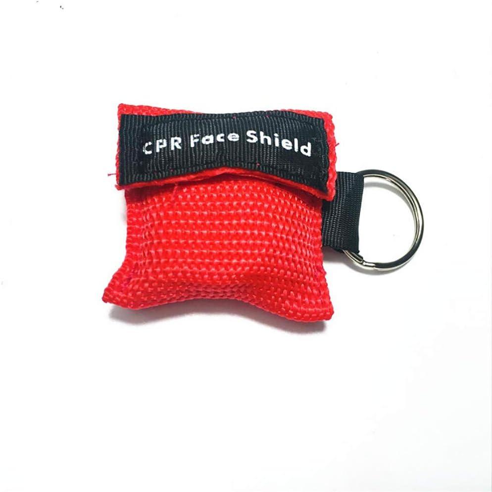 Scelet RCP máscara Llavero Anillo de Emergencia Kit de Rescate Escudos de una Sola vía Barrera respiratoria de válvulas Primeros Auxilios