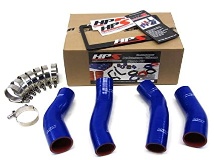 90-96 Nissan 300ZX Twin Turbo HPS Silicone Intercooler Turbo Hose kit Blue