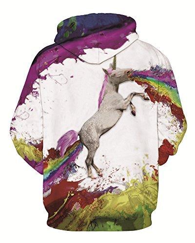 Donna Coppia Pullover Felpa Cappuccio Uomo Casuale Lunghe Minetom 3D Horse Maniche Con Unisex Stampato Sweatshirt Hoodies pdFqHwI