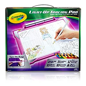 518TDbOatfL. SS300  - Crayola Light Up Tracing Pad Pink, Toys for Girls & Boys, Gift for Kids, Age 6+