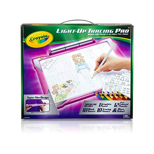 518TDbOatfL. SS600  - Crayola Light Up Tracing Pad Pink, Toys for Kids, Gift for Girls & Boys, Age 6+