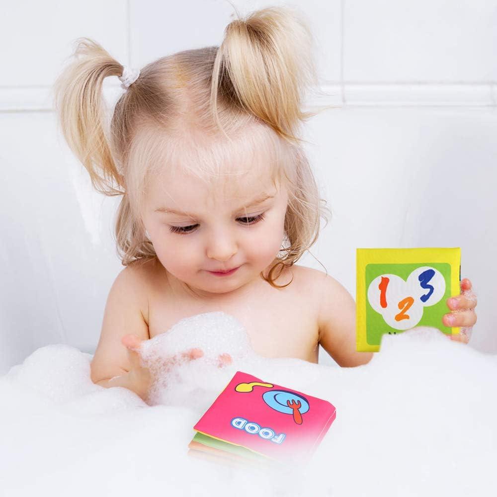 Exercice de Intelligence Jouet Educatif Cadeau Premier Livre pour Bebe BelleStyle Livre Bebe Tissu Livre de Bain 6 Pcs Livres d/éveil Sensitive Book Soft Book Baby Livres de Jouets de B/éb/é