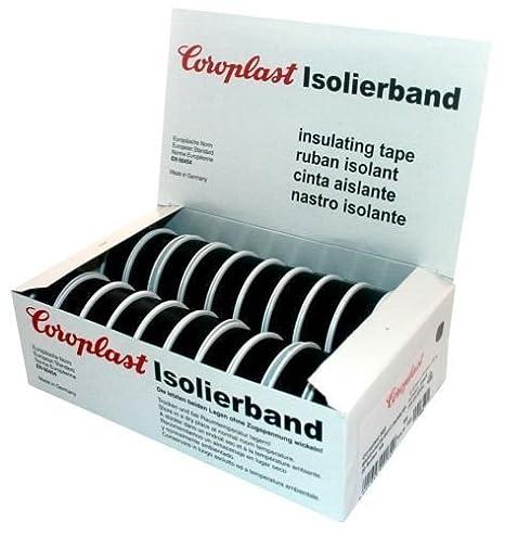 10 x Isolierband Coroplast VDE Isoband Klebeband Elektriker Band  /> Schwarz  /<