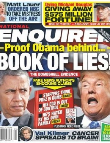 January 29, 2018 National Enquirer Obama Trump Matt Lauer Michael Douglas