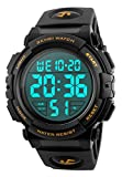 Best Digital Watches - Men 's Large Face Digital Outdoor Sports Waterproof Review