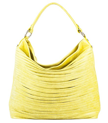 ZETA SHOES Borsa donna in vera pelle tracolla made in italy MainApps Giallo