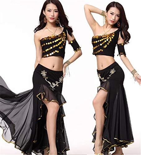 peiwen Les Danses/Shining Stade Ventre Danse/Performance Costume/Inde Danse Ensemble/des Hauts et des Jupes black