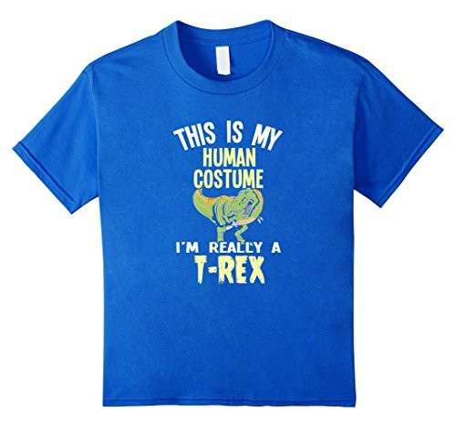 Costume Rex Ideas T (Kids Halloween Shirt | Funny T-Rex Costume T Shirt Gift Idea 8 Royal)