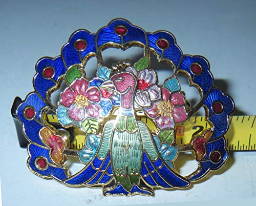 - Restored by UKARETRO Peacock Figurine || Home Decor || Bird Statue || Vintage Solid Brass || Enamel Paint Design/Pattern