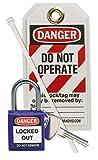Brady 123150 Compact Lock Personal Kit, Purple