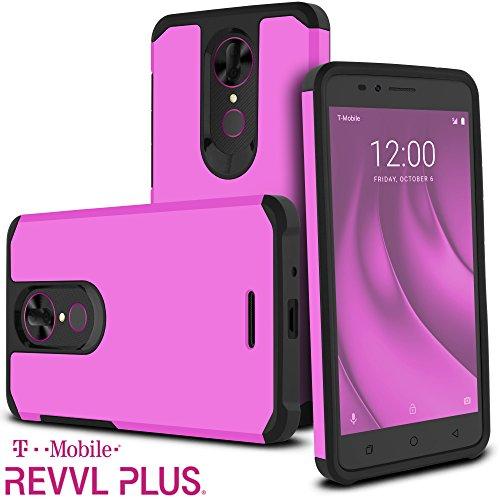 (T-Mobile Revvl Plus Case, Coolpad Revvl Plus Case, Celljoy [Liquid Armor] Slim Fit [Dual Layer] TPU Bumper Protective Hybrid [[Shockproof]] - Thin Hard Plastic Impact Shell Cover (Matte Purple))