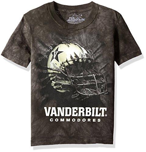 The Mountain Boys' Big Boys' Vanderbilt University Vanderbilt Bt Helmet Youth T-Shirt, Black, Large