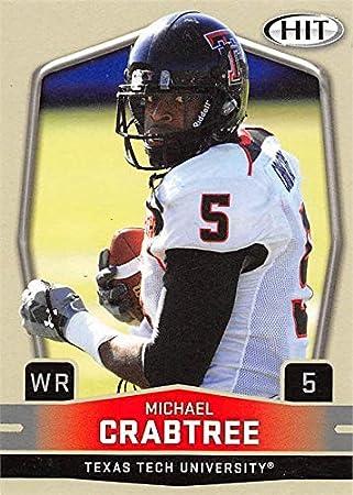 Michael Crabtree football card (Texas Tech Red Raiders) 2009 SAGE ...