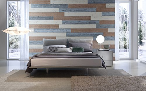 Combination Stick (WoodyWalls Peel and Stick Wood Wall Panels, Three Color Combinations, 19.5 sq. ft. per Box, Sweetened Milk, Warm Sand, Natural Gray)