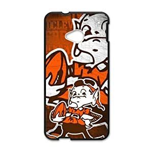 Hoomin Funny Cleveland Browns Design HTC One M7 Cell Phone Cases Cover Popular Gifts(Laster Technology)