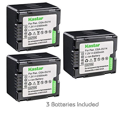 Kastar Battery (3-Pack) for Panasonic CGA-DU14 DU06 DU07 DU21 VW-VBD070 VBD140 VBD210 NV-GS330 GS508 MX500 PV-GS180 GS320 GS400 GS500 SDR-H48 H250 H280 VDR-D160 D308 D310 D400 M54 M55 M70 M75 ()