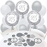 We Still Do - 25th Wedding Anniversary - Confetti and Balloon Anniversary Party Decorations - Combo Kit