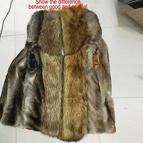 Moonwalk Men`s Faux Fur Hooded Vest