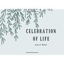 Celebration of Life: Guest Book, Blue & Teal, Classic Memorial Guest Book & Funeral Guest Book, Wake, Condolence Book, Church, Memorial Service (Elite Guest Book)
