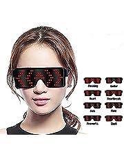 EONHUAYU LED Party bril Light Up Eyeglasses meerkleurig LED-bril met 8 modi voor Discoteche DJ Concert Halloween Birthday Parties
