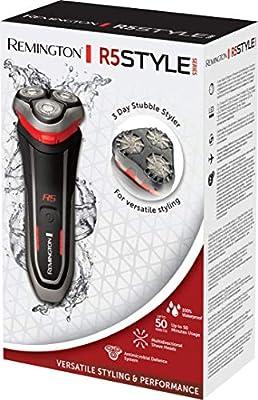 Remington R5 Style Series R5000 - Afeitadora Eléctrica Rotativa, Cuchillas Flexibles, Cortapatillas, Inalámbrica, Negro y Rojo: Amazon.es: Salud y cuidado personal