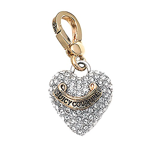 Juicy Couture Puffed Pave Heart - Pave Juicy