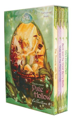 Tales From Pixie Hollow 4 copy Box Set (Disney Fairies)(Trouble with Tink, Lily's Pesky Plant, Vidia and the Fairy Crown, Beck and the Great Berry Battle)