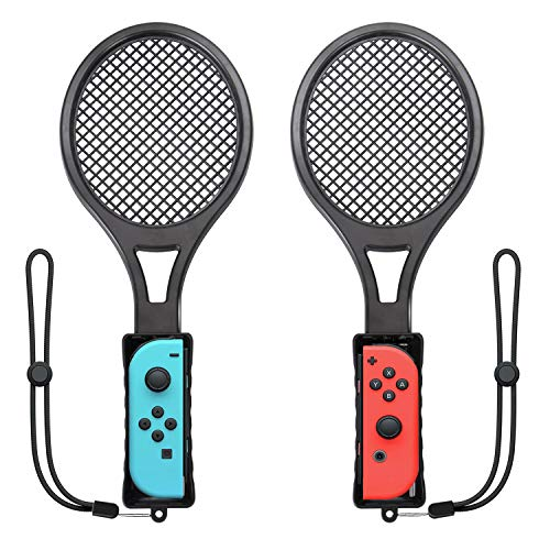 Tennis Racket for Nintendo Switch Twin Pack Tennis Racket for N-Switch Joy-Con Controllers for Mario Tennis Aces Game