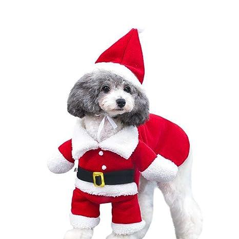 DELIFUR Disfraz de Papá Noel con Gorro para Perro, Sudadera ...