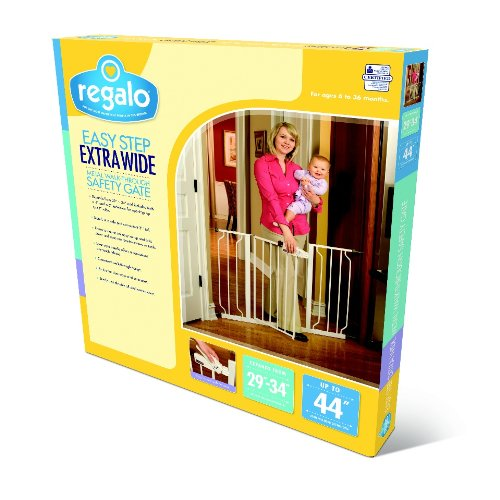 Regalo Easy Step Extra Wide Baby Gate Includes 4 Inch And