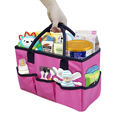 Godery Desktop File Folder Tote and Stock Organize Purple Edge Make-up Storage Tote with Handles for Travel or Daily Use Fundamentals Art Organizer Storage Craft Tote Bag for Office Desk Organize