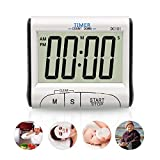 alarm clock direct entry - Cooking Timer by Fliiners Digital Kitchen Timer with Large Display Countdown Up Timer Clock, Loud Sounding Alarm, Strong Magnetic Backing, Retractable Stand