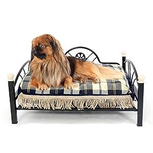 luxury pet bed metal frame