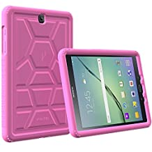 Poetic Cases TurtleSkin Heavy Duty Protection Silicone Case with Sound-Amplification Feature for Samsung Galaxy Tab S2 9.7 Pink