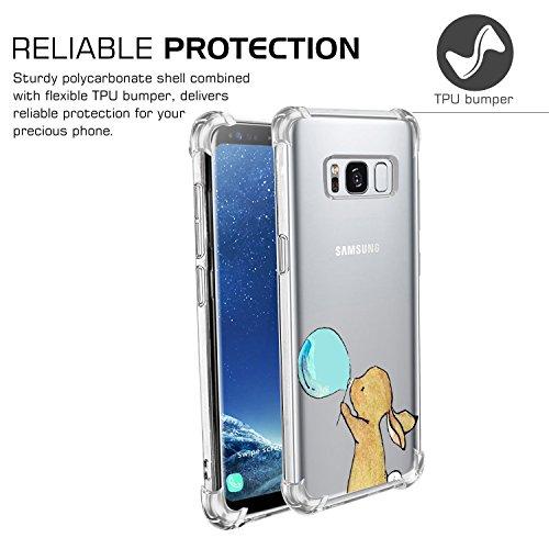 Funda Samsung Galaxy S8 S8 Plus Carcasa Silicona Transparente Protector TPU Airbag Anti-choque Ultra-delgado Anti-arañazos Sandía Caso para Galaxy Case Caja Jeper® Patrón