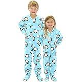 SleepytimePjs Kid's Printed Fleece Onesie PJs Footed Pajama