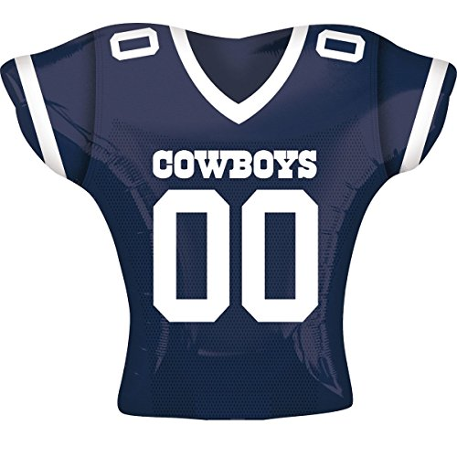 Anagram International Dallas Cowboys Jersey Flat Party Balloons, 24
