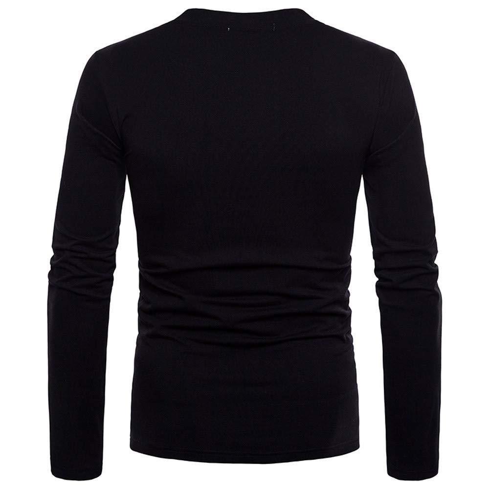 BaZhaHei-Blusa de hombre, Personalidad de los Hombres de Moda Slim Fit Camisa de Manga Larga sólida Tops de Blusa para Hombre del Camiseta de Diseño único ...
