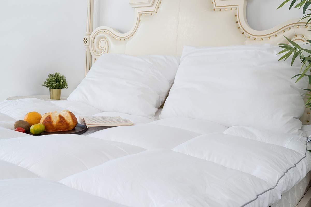 Mattress Topper Twin, Plush Pillow Top Mattress Pad/Bed ...