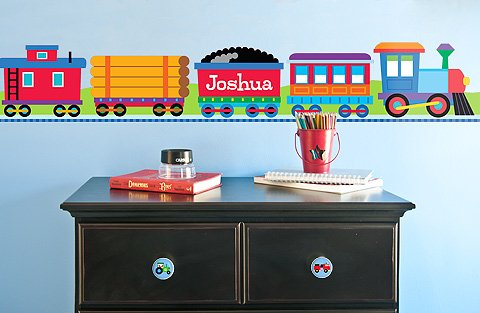 - Train Personalized Wall Border By Olive Kids