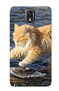New Nholfo-7005-hiikywo Animal Cat Skin Case Cover Shatterproof Case For Galaxy Note 3