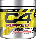 Cellucor C4 Ripped Pre Workout Powder, Energy & Fat Metabolism Supplement, Cherry Limeade