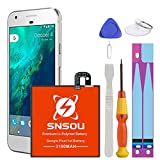Google Pixel Battery, SNSOU 3100mAh Li-Polymer Replacement B2PW4100 Battery for HTC Google Pixel 1st 5' 35H00261-00M G-2PW410 Nexus S1 with Repair Replacement Kit Tools [18 Months Warranty]