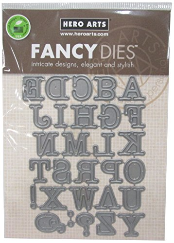 Hero Arts Alphabet Uppercase Fancy Die Cuts (Letter Cutting)