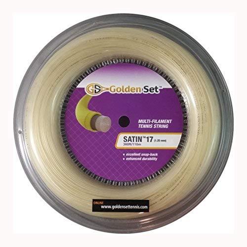 Golden Set Satin 17g (1.30mm), Reel (360ft/110m), Natural, Multi-Filament Tennis String