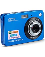"$24 » AbergBest 21 Mega Pixels 2.7"" LCD Rechargeable HD Digital Camera Video Camera Digital Students Cameras,Indoor Outdoor for Adult/Seniors/Kid (Blue) (Renewed)"