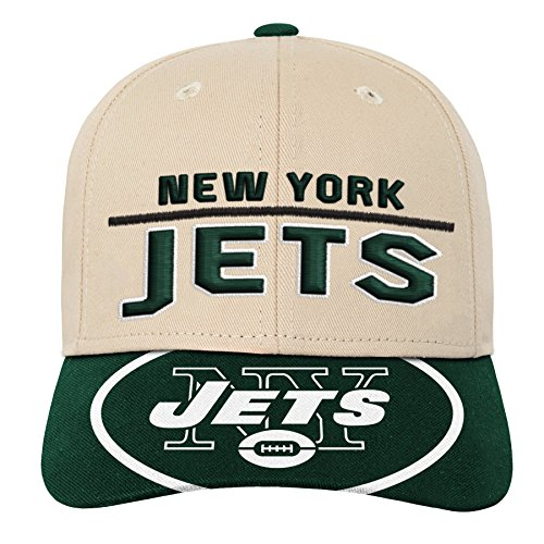 (Outerstuff NFL NFL New York Jets Youth Boys Retro Style Logo Structured Hat Hunter Green, Youth One Size)