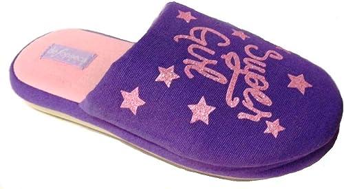 de fonseca Pantofole Ciabatte Cotone Bimba MOD Roma E U752 Fucsia