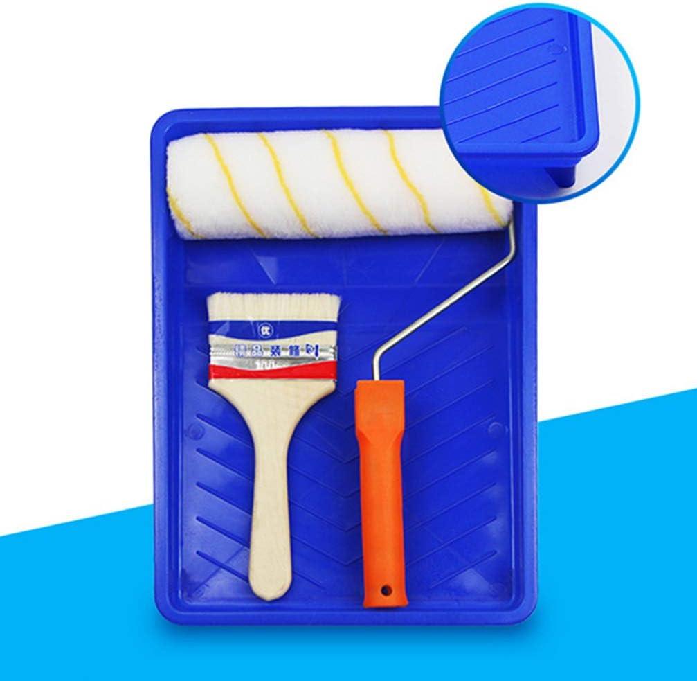 NUOBESTY bac /à peinture bac de rangement conteneur bleu rouleaux bac /à outils bac de rangement brosse pour bureau /à domicile 14.5 in