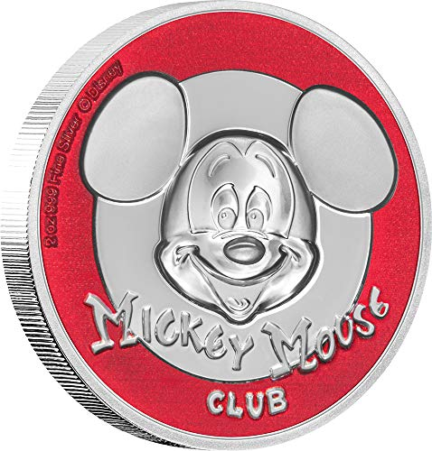 2019 NU Modern Commemorative PowerCoin MICKEY MOUSE CLUB Ultra High Relief Disney 2 Oz Silver Coin 5$ Niue 2019 Proof